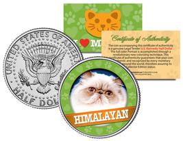 HIMALAYAN  Cat JFK Kennedy Half Dollar US Colorized Coin - $8.86