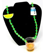 Vintage Mardi Gras Necklace Tequila Shot with Lime and  Salt Shaker - £21.67 GBP