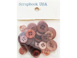 Scrapbook USA Brown Button Mix