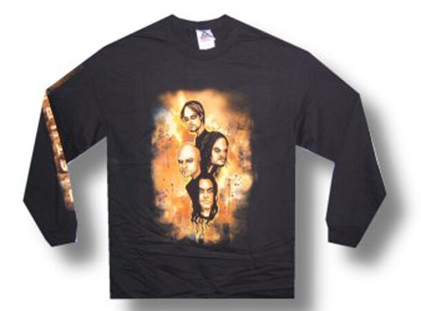 Disturbed-Apocalypse-Group Faces-Longsleeve-Black T-shirt