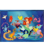 Disney Little Mermaid with harp Lithograph - $15.99
