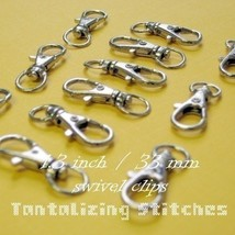 600 Nickel Plated 1.3 Inch Extra Large Lobster Swivel Clasps - $121.10