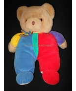 "VINTAGE EDEN TOYS PRIMARY COLORS TEDDY BEAR STUFFED PLUSH 12"" LOVEY - $24.95"