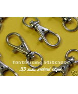 15 Nickel Plated 1.3 Inch Lobster Swivel Clasps - $4.98