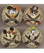 Disney Mickey Goofy Donald Big Pete Pirate CM Pin/Pins - $79.98