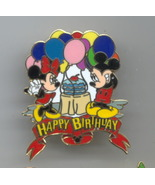 Disney Mickey & Minnie Happy Birthday Pin/Pins - $18.39