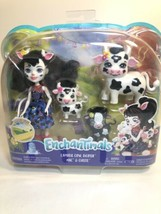 Enchantimals Cambrie Cow Doll with Ricotta Cow and 2 Baby calves *NEW* - $25.74
