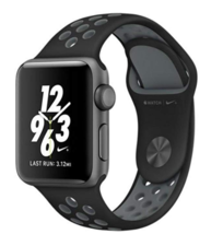 Apple Watch Nike+ Series 2 Space Gray/ Black 38mm Case OLED Sport Band MNYX2LL/A