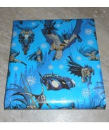 DC COMICS BATMAN AMERICAN GREETINGS CHRISTMAS Wrapping PAPER 20 SQ FT ROLL - $6.00
