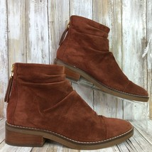 Cole Haan Grand OS 8.5M Riona Ankle Boot Rust/Cherry Suede Heel Zip Womens - $73.99
