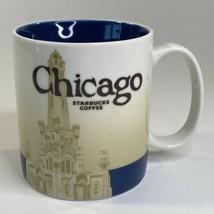 Starbucks Coffee Mug Cup 16 Ounce Chicago Collector Series Global Icon 2011 - $12.19