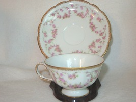 SCHUMANN ORIGINAL BRIDAL ROSE FOOTED CUP & SAUCER NC GERMANY - $8.90