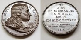 1817 French Historian F Eudes de Mezeray (1610-83) PL Bronze Medal by Caunois F. - $124.99