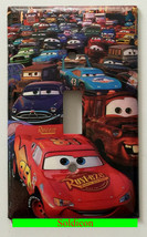 Cars Lightning McQueen Light Switch Power Outlet wall Cover Plate Home Decor image 1