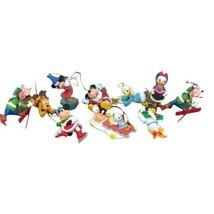 Lot Of 10 Disney Grolier Christmas Ornaments Mickey Minnie Donald Goofy ... - $69.29