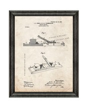 Potato-cutter Patent Print Old Look with Black Wood Frame - $24.95+