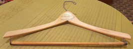 Vintage Wood Advertising Clothes Hanger for STRAKS CLOTHING in SHELDON IOWA - $10.76