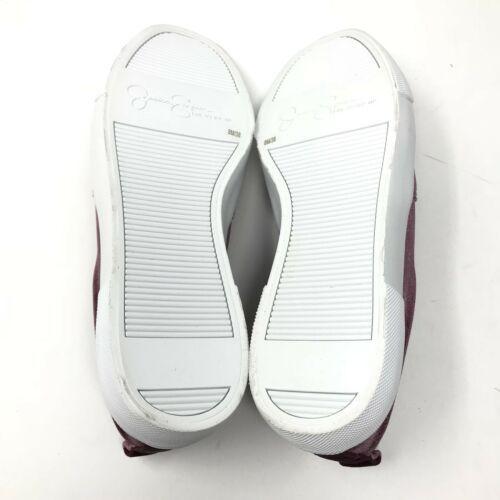 Jessica Simpson Sz 8 Danika2 Bordeaux Velvet Slip On Sneaker Embellished Stars