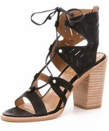 Dolce Vita Luci Black Women's Ghillie Lace Up Stacked Heel Sandals - $98.00