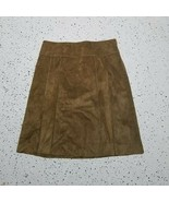 Women's Ann Taylor Leather Skirt ~ Size 8 ~ Straight ~ Below Knee ~ Lined - $34.64