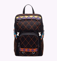 NWT Prada Black Multi Quilted Nylon Leather Backpack Bag New  ($1600) - $945.00