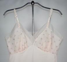 Pink Van Raalte Slip, Suavette, Size 36, Embroidered, Nylon Full Slip, N... - $14.99