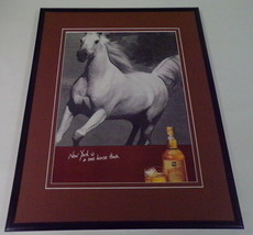 1998 White Horse Whiskey 11x14 Framed ORIGINAL Vintage Advertisement - $32.36