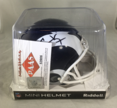 COOPER KUPP / AUTOGRAPHED LOS ANGELES RAMS BLACK AND WHITE MINI HELMET / COA image 8