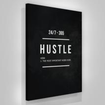 "Hustle Entrepreneur Canvas Print Office Wall Decor Modern Art 36"" x 24"" ... - $115.87"