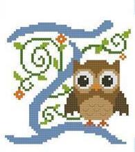 Hooties Alphabet Z cross stitch chart Pinoy Stitch