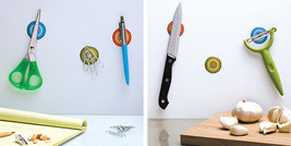 Peleg Design Magnetic Stickers set 3 home  Kitchen office wall metal not... - $19.00