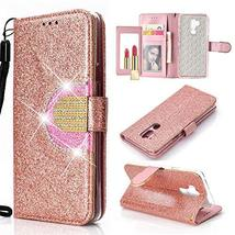 GLORYSHOP LG G7 ThinQ Case,[Glittering] [Wrist Strap] [Mirror Function] ... - $8.90