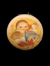 Vtg 1979 Schmid Anri Ferrandiz Baby Rabbits Christmas Ball Ornament - $9.89