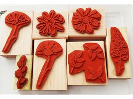 Stampin' Up! Floral Rubber Wood Mounted Stamp Set image 2