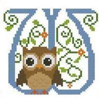 Hooties Alphabet W cross stitch chart Pinoy Stitch
