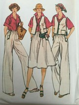 Vogue Sewing Pattern 9531 Size 8 Vest, Pants, Skirt, Shirt Vintage 1970s... - $14.99