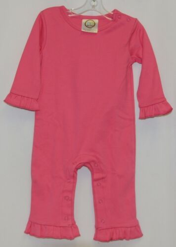 Blanks Boutique Long Sleeve Pink Snap Up Ruffled Romper 12 months