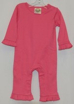 Blanks Boutique Long Sleeve Pink Snap Up Ruffled Romper 12 months - $28.00