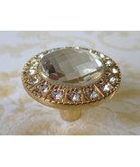 Gold Glass Knob Dresser Knobs Crystal Drawer Knob Pulls Cabinet Handles ... - $5.00