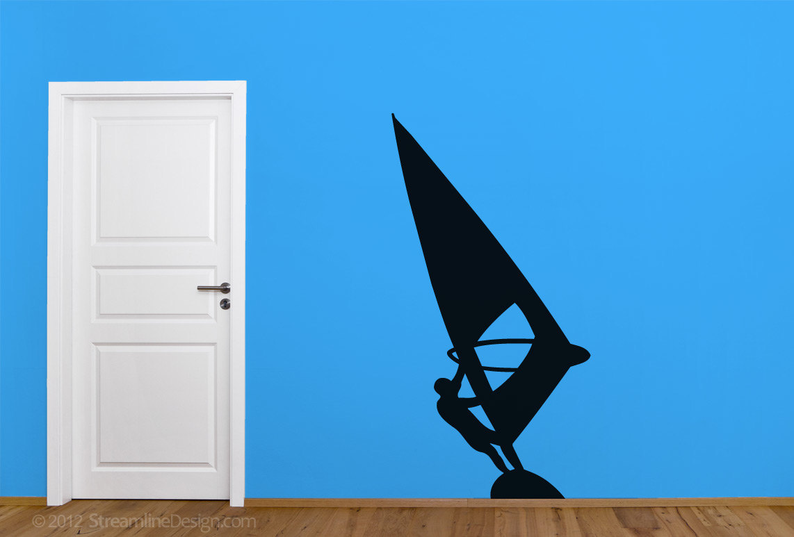 Primary image for Sailboarding Silhouette 40x78 Vinyl Wall Art