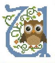 Hooties Alphabet U cross stitch chart Pinoy Stitch