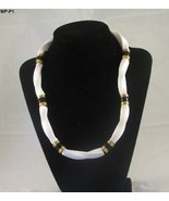 "White Lucite Plastic 17"" Necklace - $12.99"