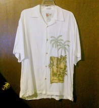 Men's Hilo Hattie Embroidered Hawaiian Shirt Size Medium - $10.00