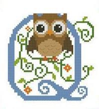 Hooties Alphabet Q cross stitch chart Pinoy Stitch
