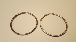 Antique Vintage Sterling Silver 925 Earrings, 2.5 Inch Diameter - $15.00