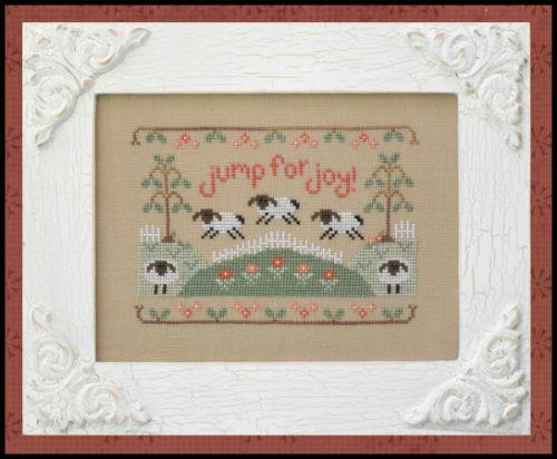 Jump For Joy easter spring cross stitch chart Country Cottage Needleworks