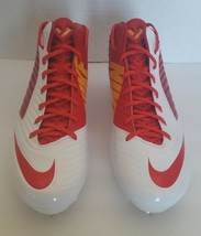Nike Men Vapor Speed D 3/4 Mid Red White Football Sports Cleats 668853 616 Sz 14 - $26.95