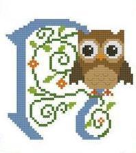 Hooties Alphabet N cross stitch chart Pinoy Stitch