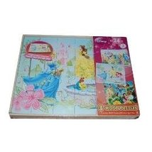 DISNEY 24 PIECE WOOD PUZZLES..THREE PUZZLES WITH TRAY - $18.53