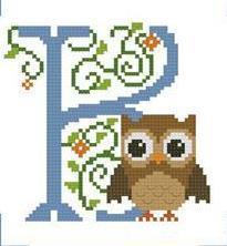 Hooties Alphabet K cross stitch chart Pinoy Stitch